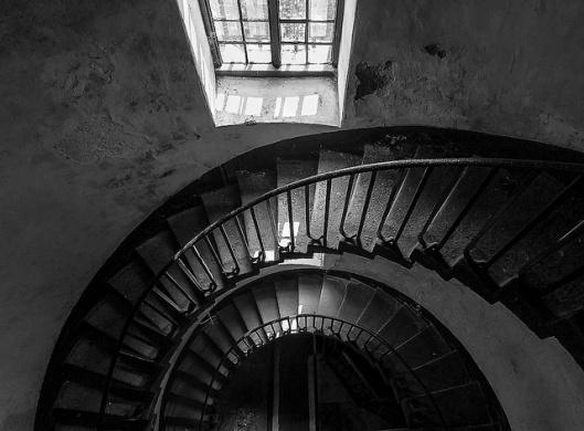 escalier vers la salle de torture